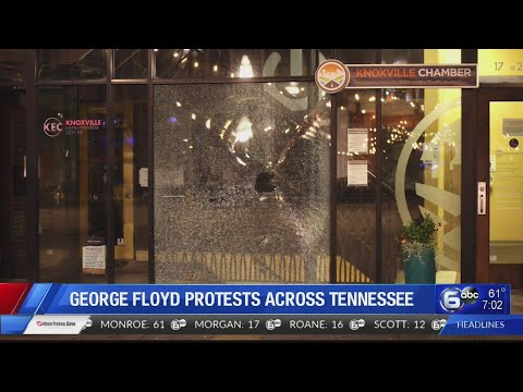 Protests emerge across Tennessee after the death of George Floyd in Minnesota