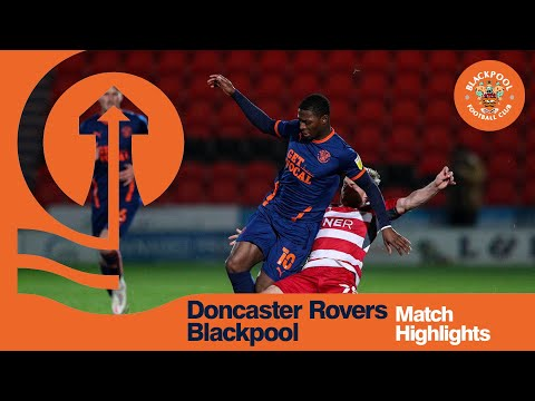 Doncaster Blackpool Goals And Highlights