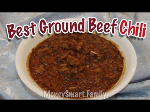 Best Ground Beef Chili - Homemade Slow Cooker Ground Beef Chili