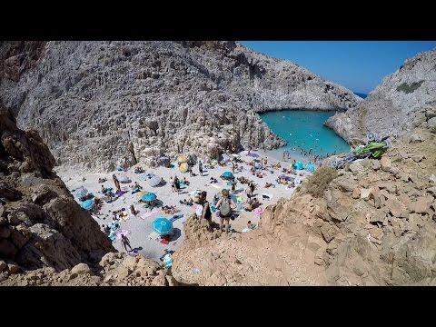 Beach Trip Crete - Seitan Limani (Satan's Harbours) - Stefanou Beach