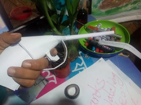 How to make a paper revolver || Paper showpiece ||♥♥♥ || Toy ||