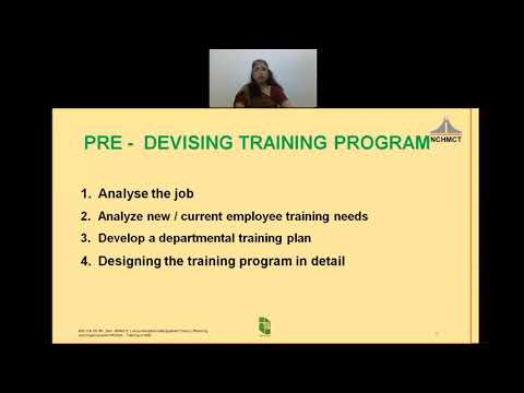 Video Lecture, Sem-V, Accommodation Management, Devising Training Modules