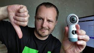Не покупайте эту камеру НИКОГДА! Есть 2 причины. Обзор Sumsung Gear 360 (2017) SM-R210NZWASER