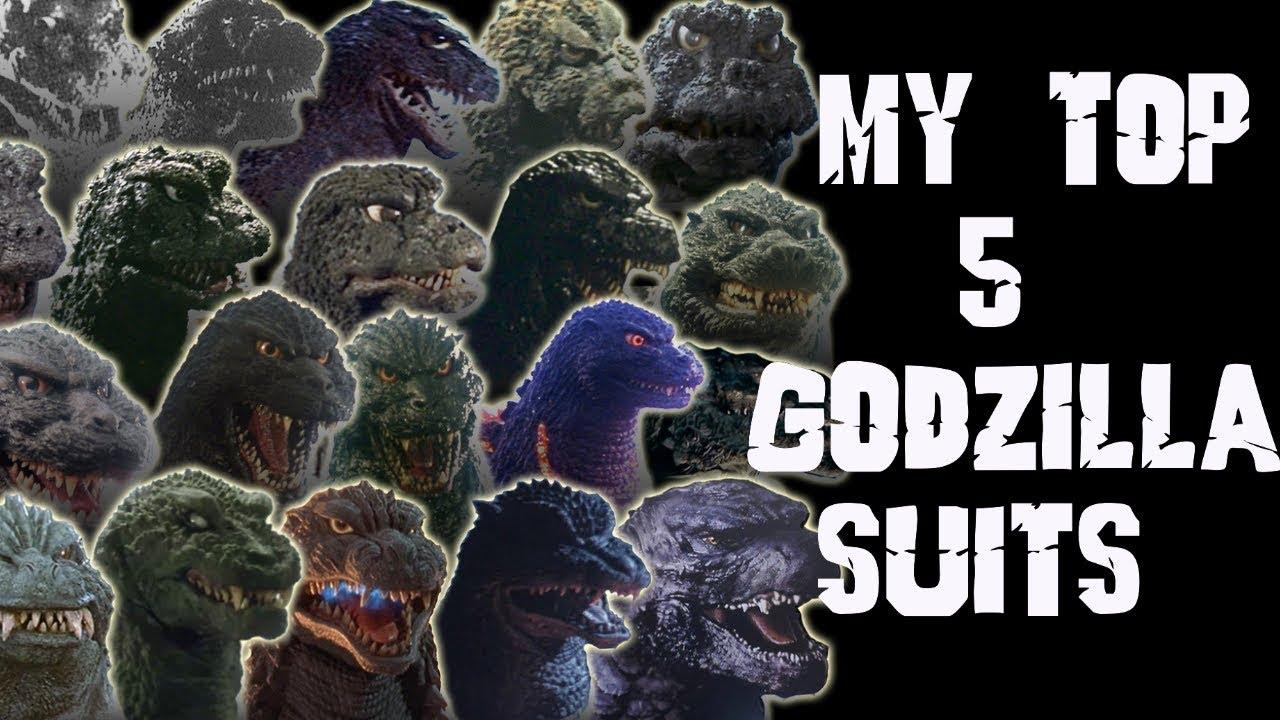 MY TOP 5 GODZILLA SUITS - YouTube