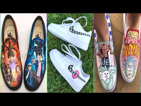 Best Tik Tok Painting On Shoes Compilation 2019 #6