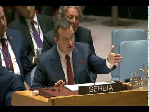 Ivica Dacic zestoko rastura zapad i albance u Skupstini UN-a. 1-deo