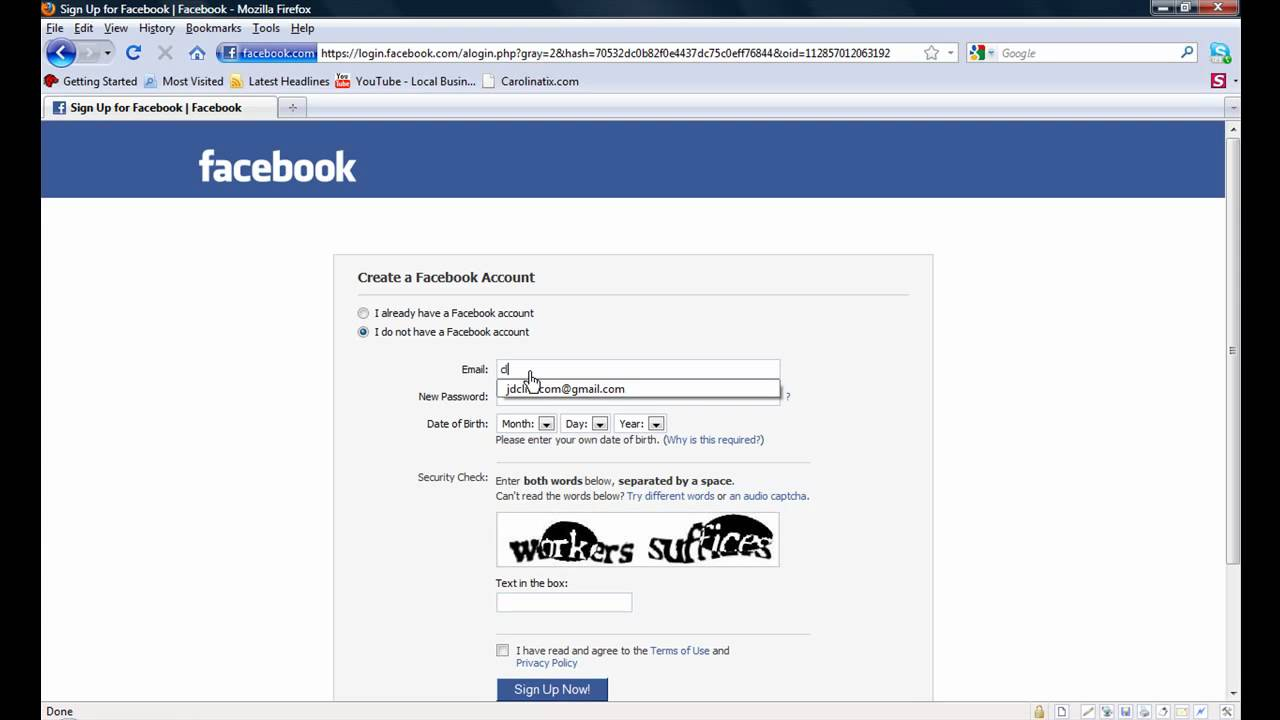 Tutorial On How To Create a Facebook Business Fan Page No Personal Profile