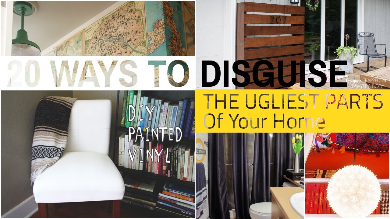 20 Ways How to hide home ugly stuff - YouTube