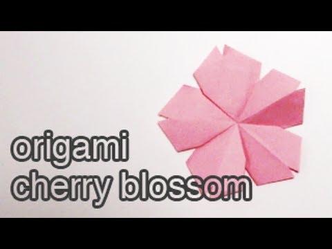 Origami Cherry Blossom Tutorial 🌸 DIY 🌸 - YouTube - photo#13