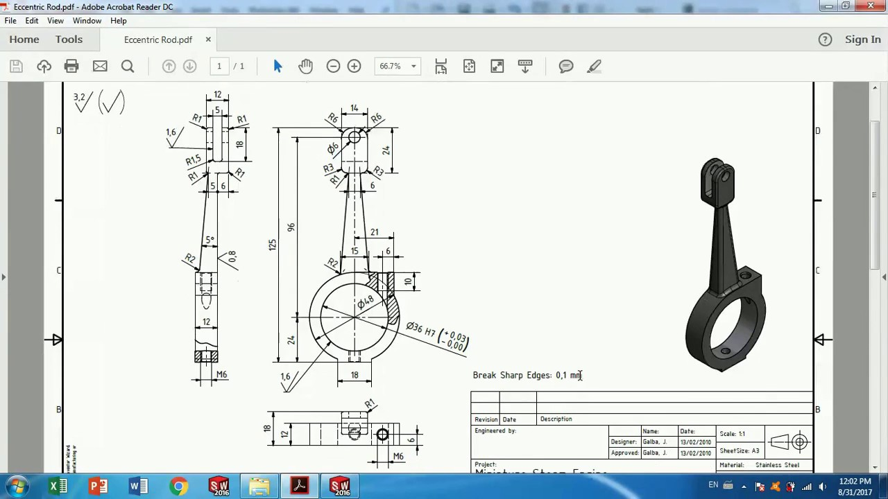 solidworks tutorial how to make vertical twin steam engine part 7 [ 1280 x 720 Pixel ]