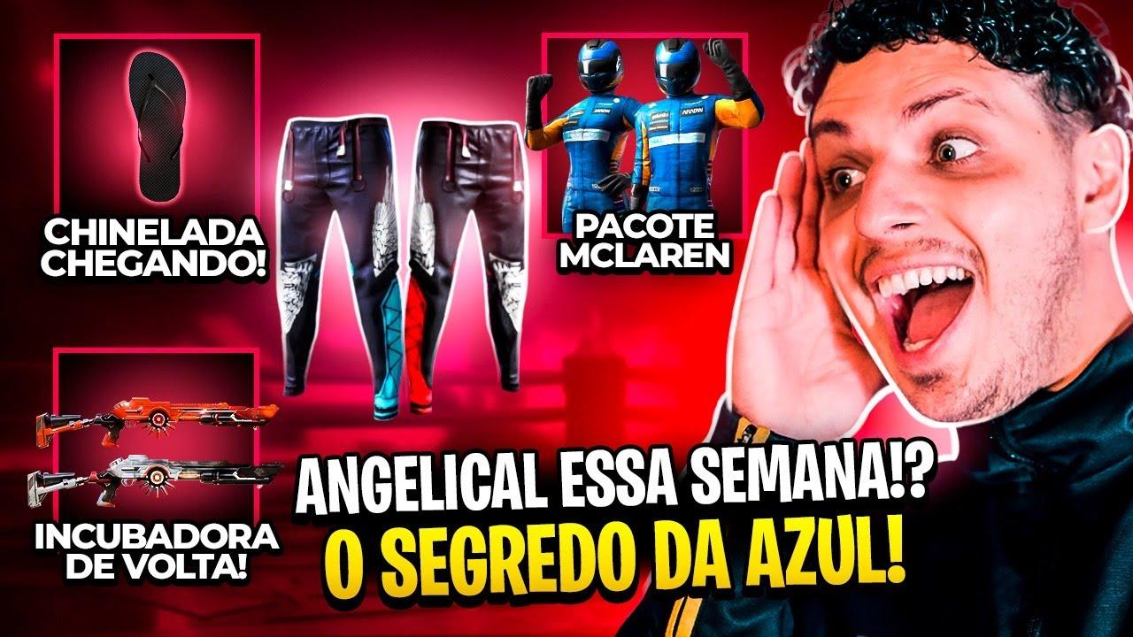 SEGREDO SOBRE A CALÇA ANGELICAL! EVENTO MCLAREN! INCUBADORA DE VOLTA NO FREE FIRE! #GB12