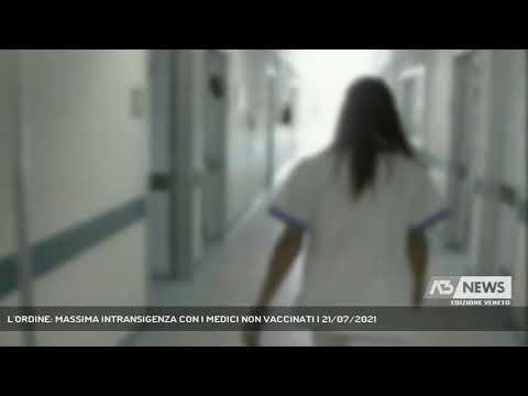 L'ORDINE: MASSIMA INTRANSIGENZA CON I MEDICI NON VACCINATI | 21/07/2021