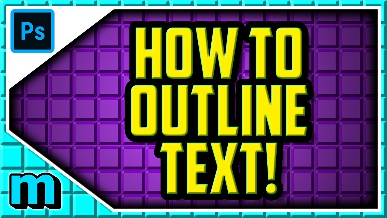 HOW TO OUTLINE TEXT IN ADOBE PHOTOSHOP CC 2019 (EASY) - Photoshop Outline  Text Stroke