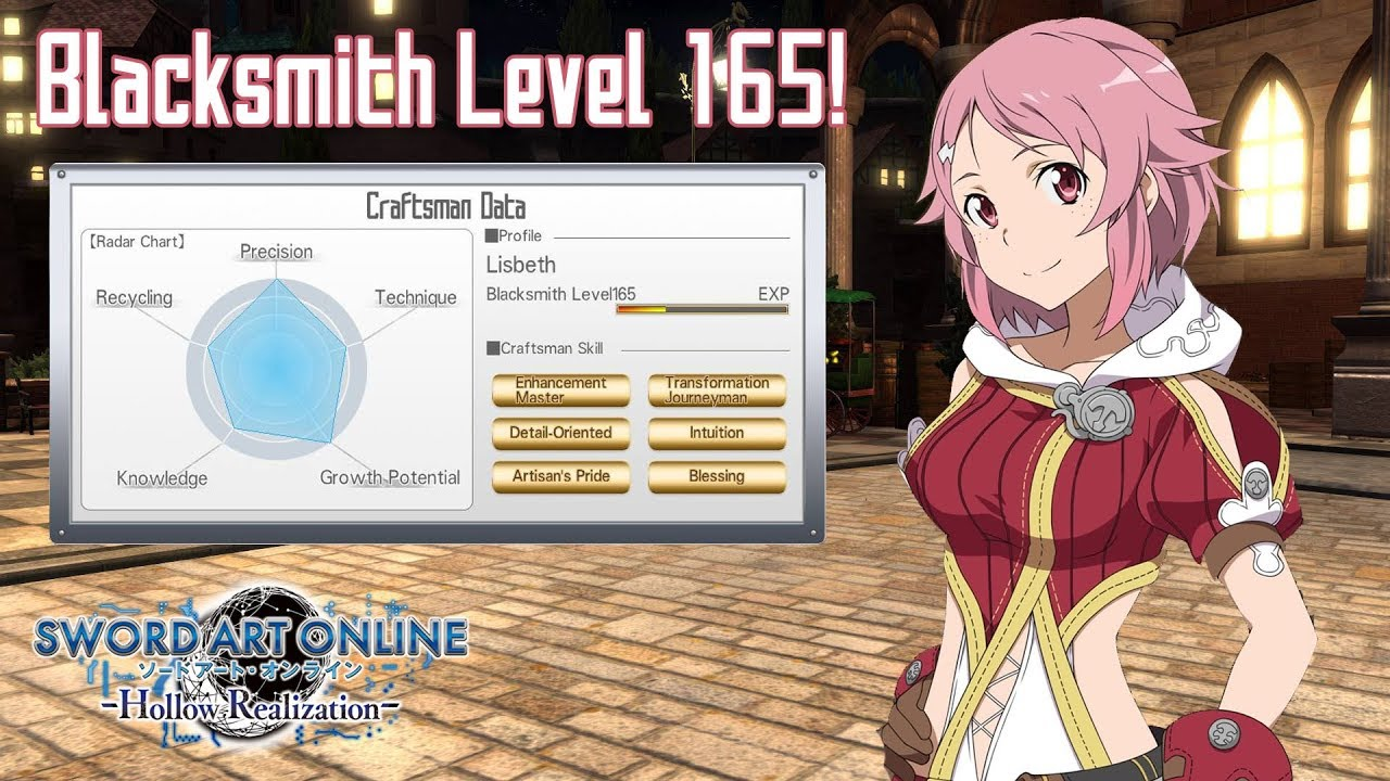 Lisbeth's Master Stroke at Lv 165 - Sword Art Online: Hollow Realization by  kuykeykoy