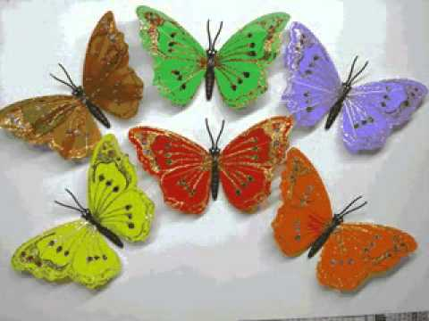 Diy butterfly craft ideas youtube for Butterflies for crafts and decoration