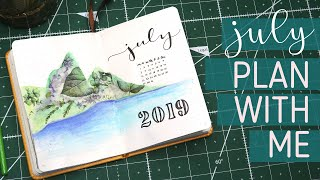 PLAN WITH ME! 🌴July 2019 Bullet Journal Set Up // Tropical Theme