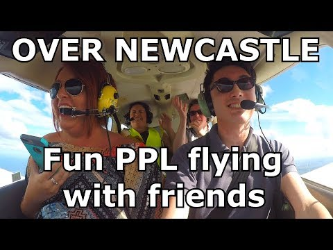 FLYING over Newcastle and North East England | PA28 | Newcastle Airport | ATC audio