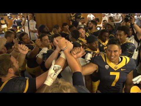 Cal Football: San Diego State Locker Room Celebration