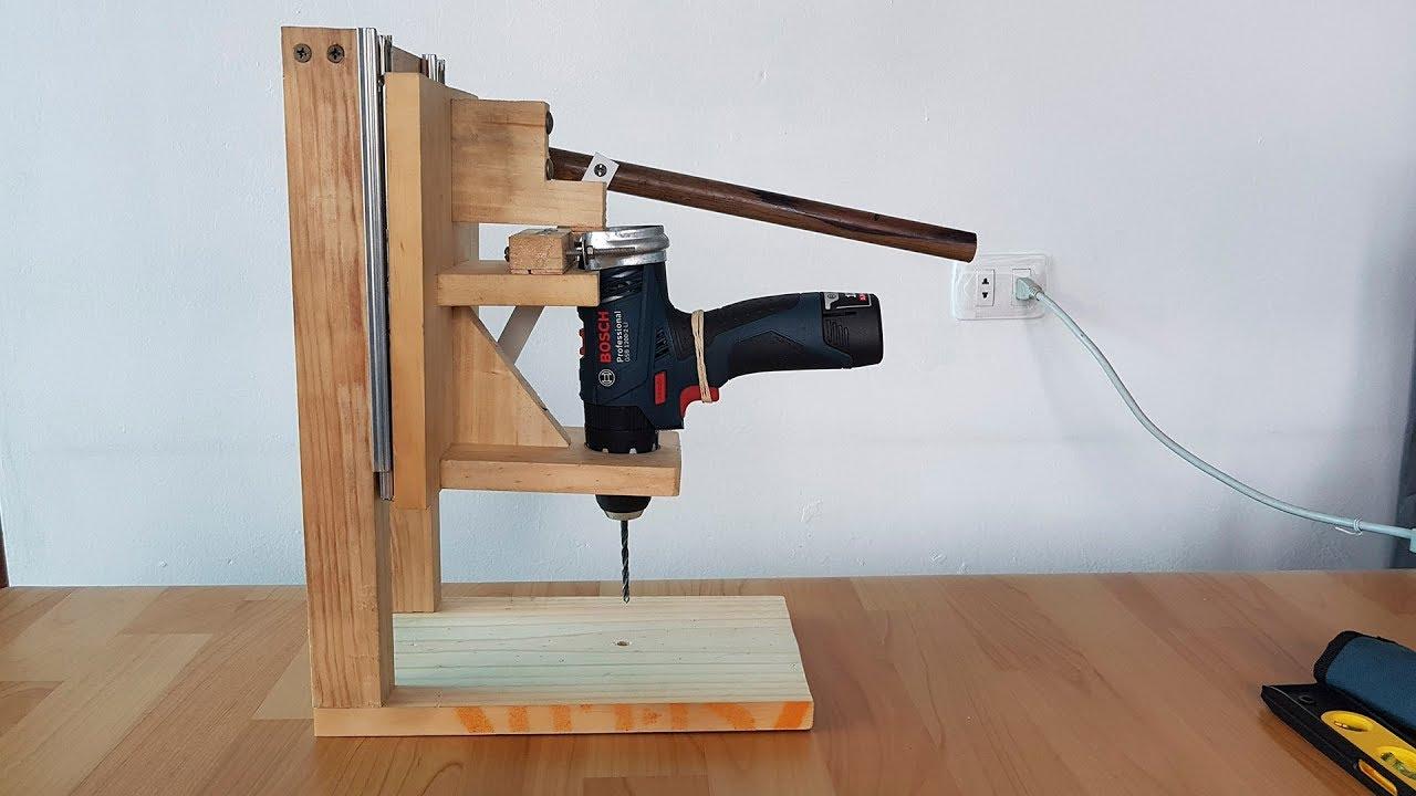 Como hacer un soporte para taladro taladro de banco - Soporte para taladro ...