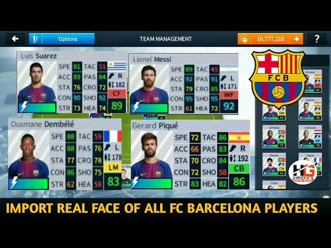How To Import Real Face Of All FC Barcelona Players In Dream League Soccer 2018