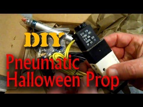 homemade pneumatic halloween prop part 1