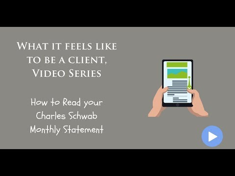 How to Read your Charles Schwab Monthly Statement