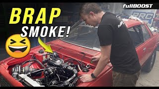 BACKYARD MECHANICS | We FIRE UP Project Redline | Mazda Rotary 13B turbo | fullBOOST