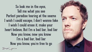 Gambar cover Bad Liar - Imagine Dragons (Lyrics)