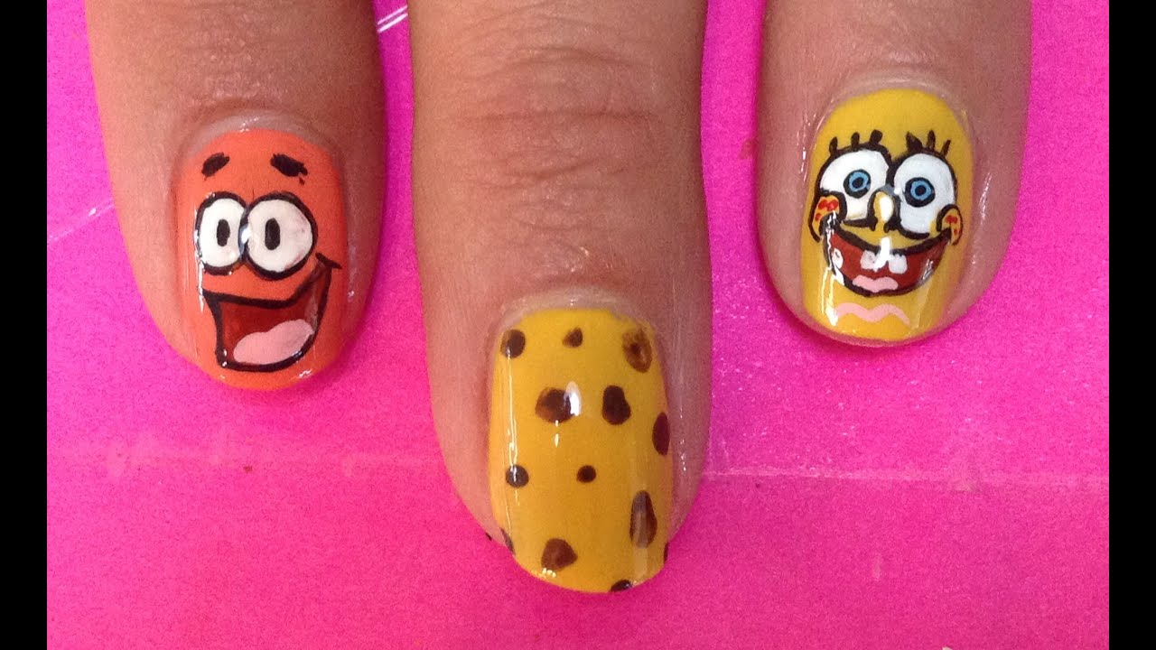 Spongebob nail art tutorial request youtube prinsesfo Image collections