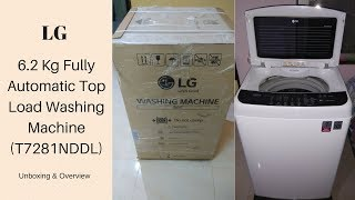 LG 6.2 Kg Fully Automatic Top Load Washing Machine White (T7281NDDL) Unboxing & Overview