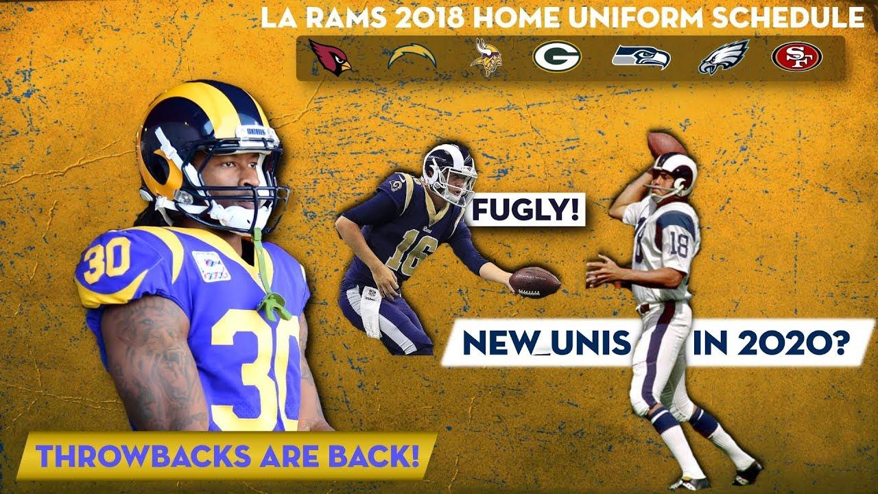 premium selection 9ecbd ee4bc LA Rams New Uniform Changes 2018 NFL Season!
