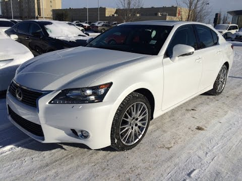 2015 lexus gs 350 4dr sdn awd executive package review in white lexus of edmonton new youtube. Black Bedroom Furniture Sets. Home Design Ideas