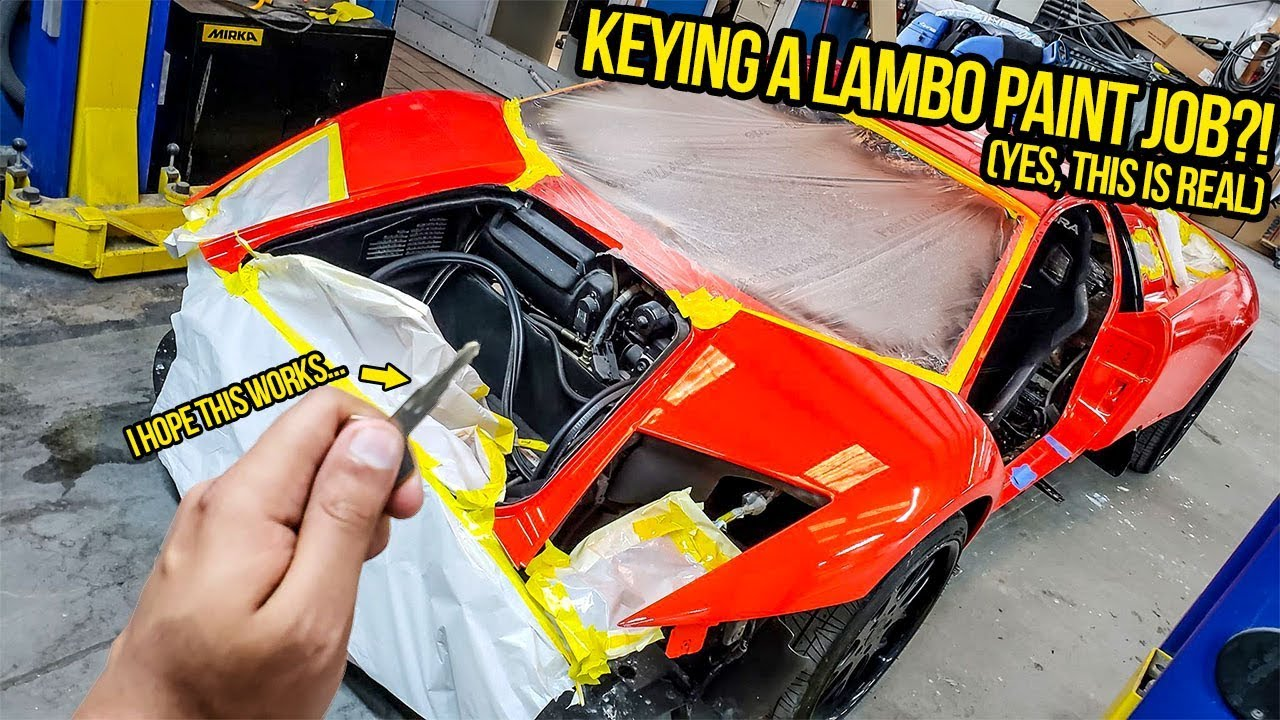 I KEYED My Fast & Furious Lambo's Paint Job To Prove It Was