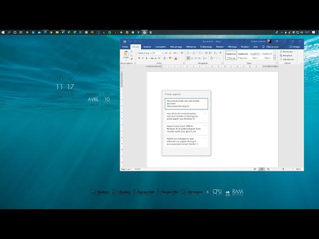 Gérer l'historique du presse-papiers de Windows 10