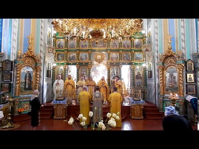 Божественная Литургия, Великий Вход. Обретение мощей Святителя Иоасафа, епископа Белгородского.
