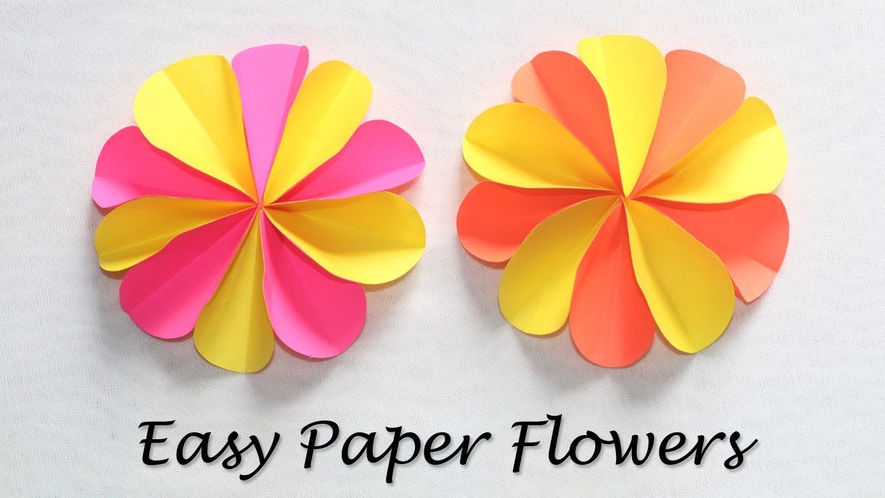 How to make paper craft flowers colorful paper flowers easy diy how to make paper craft flowers colorful paper flowers easy diy crafts with paper mightylinksfo