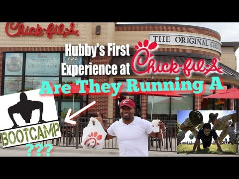 Hubby's FIRST Time Eating at CHIC FILA 😅Is it WORTH the HYPE? Are they Running a Boot Camp? from YouTube · Duration:  19 minutes 21 seconds