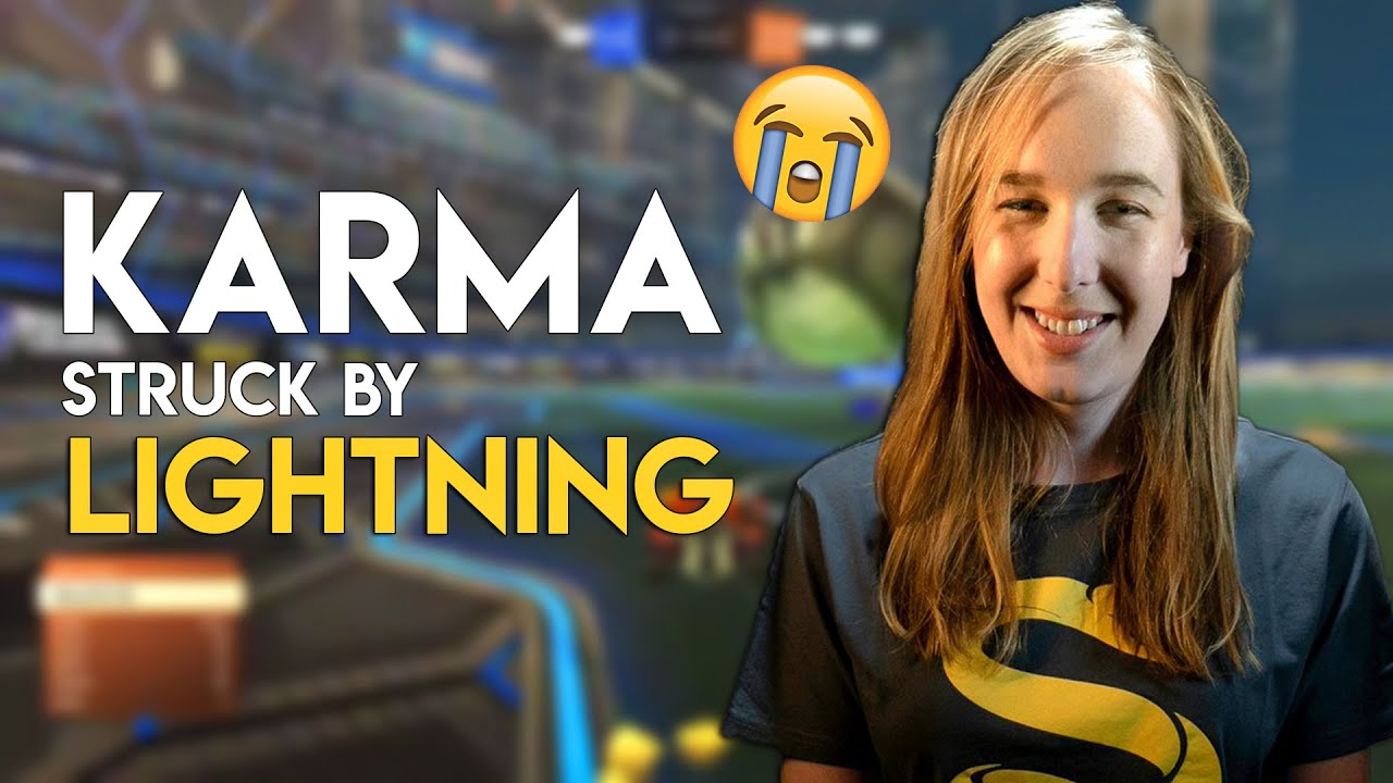 Karma STRUCK by LIGHTNING Mid Stream - RL Moments #4
