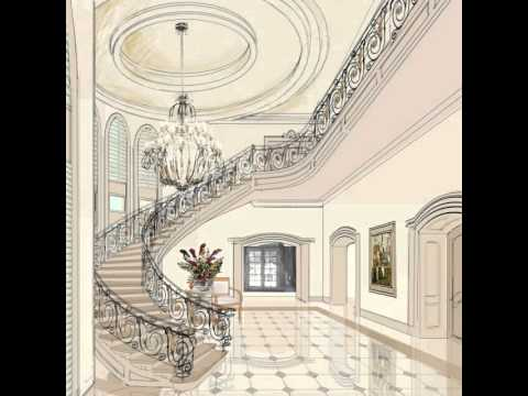 Villa interior designers classic andalusian style youtube for Classic villa interior design