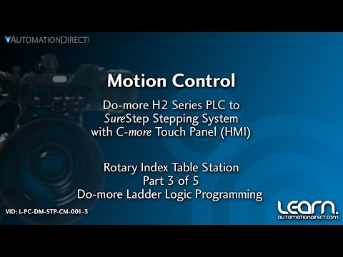 Motion Control Sure Step Stepping System - Do-more PLC Programming (3 of 5)