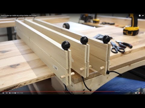 How to glue up a table top using a better caul design