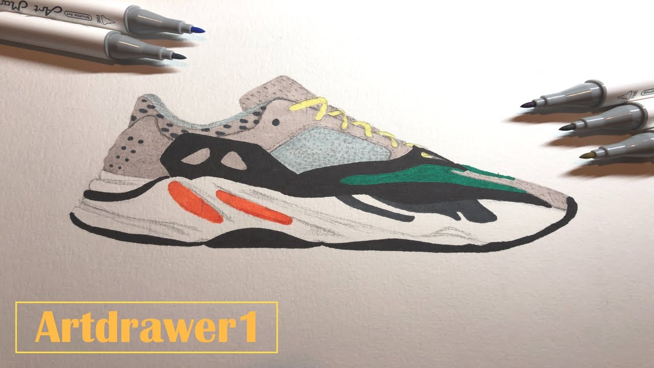 Drawing the Yeezy Boost 700 'OG'