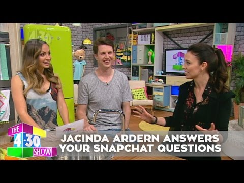 Snapchat Question Time with Jacinda Ardern