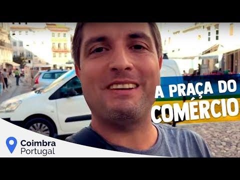 A Praça do Comércio em Coimbra