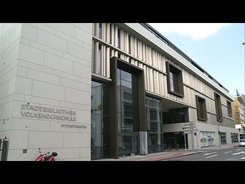 ein blick in die neue stadtbibliothek duisburg im stadtfenster youtube. Black Bedroom Furniture Sets. Home Design Ideas