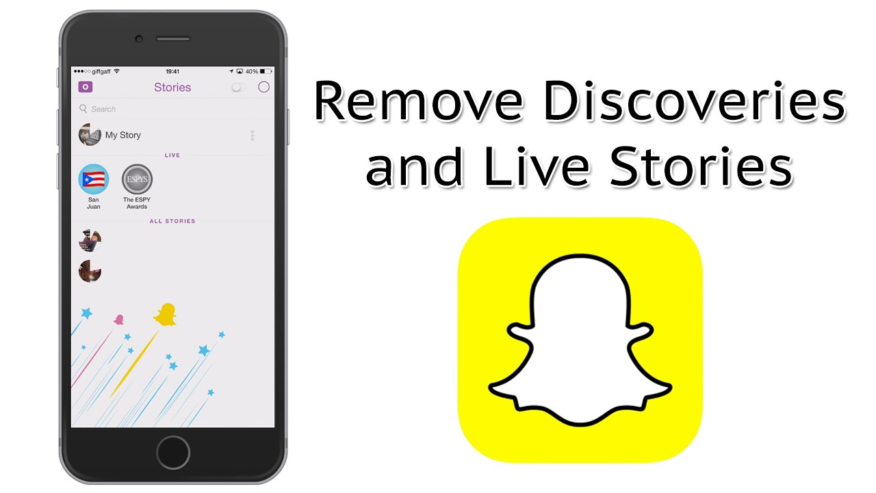 How To Remove The Discoveries And Live Stories Sections From Snapchat