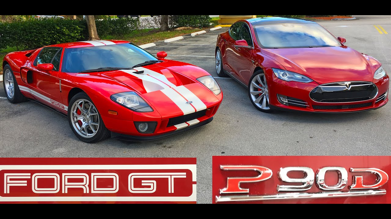 Tesla Model S Pd Ludicrous Vs  Horsepower Ford Gt Drag Racing Youtube