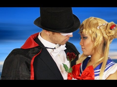 Tuxedo mask costume diy bow tie youtube solutioingenieria Image collections