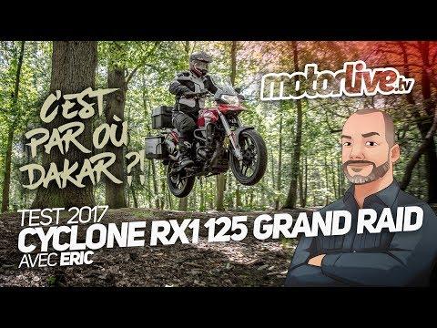 TEST CYCLONE RX1 125 GRAND RAID, C'est par où Dakar ??
