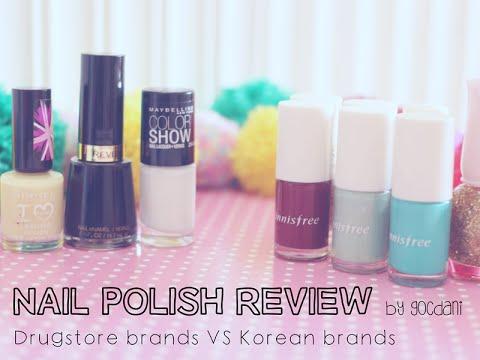 Sơn móng tay review - So sánh Loreal, Maybeline và Sơn Hàn Quốc   gocDani
